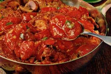 Easy Chicken Cacciatora recipe from 1962