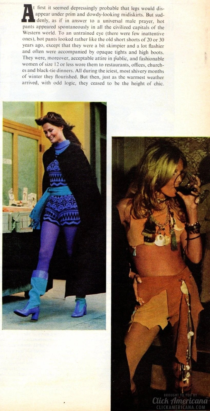 Fashion Fad Of The Seventies Hot Pants 1971 Click