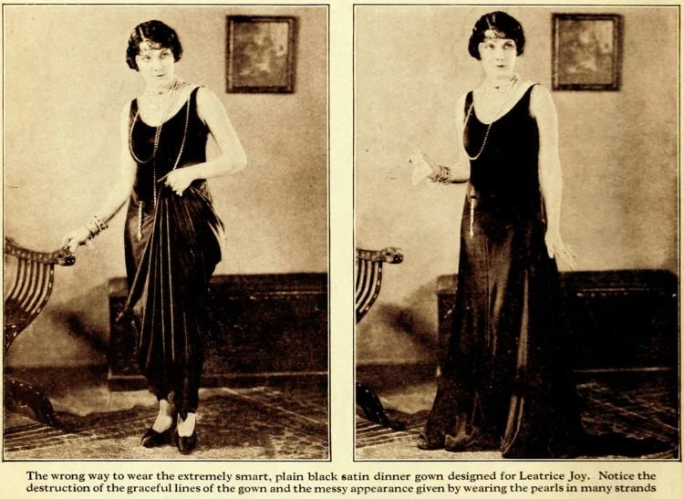Fashion lessons from the '20s How to spoil the effect of beautiful clothes (1)