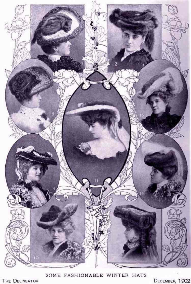 Fashionable hats from 1902
