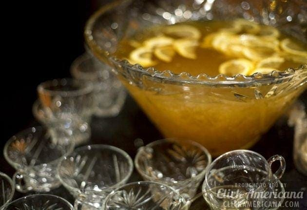 Fish-house punch bowl and cups