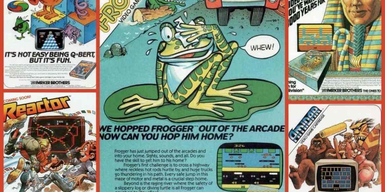 Frogger, Qbert, Amidar, Reactor & Tutankhamun video games (1980s)