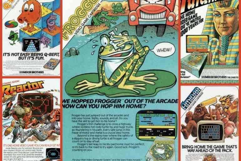 Frogger, Qbert, Amidar, Reactor & Tutankhamun video games (1980s)