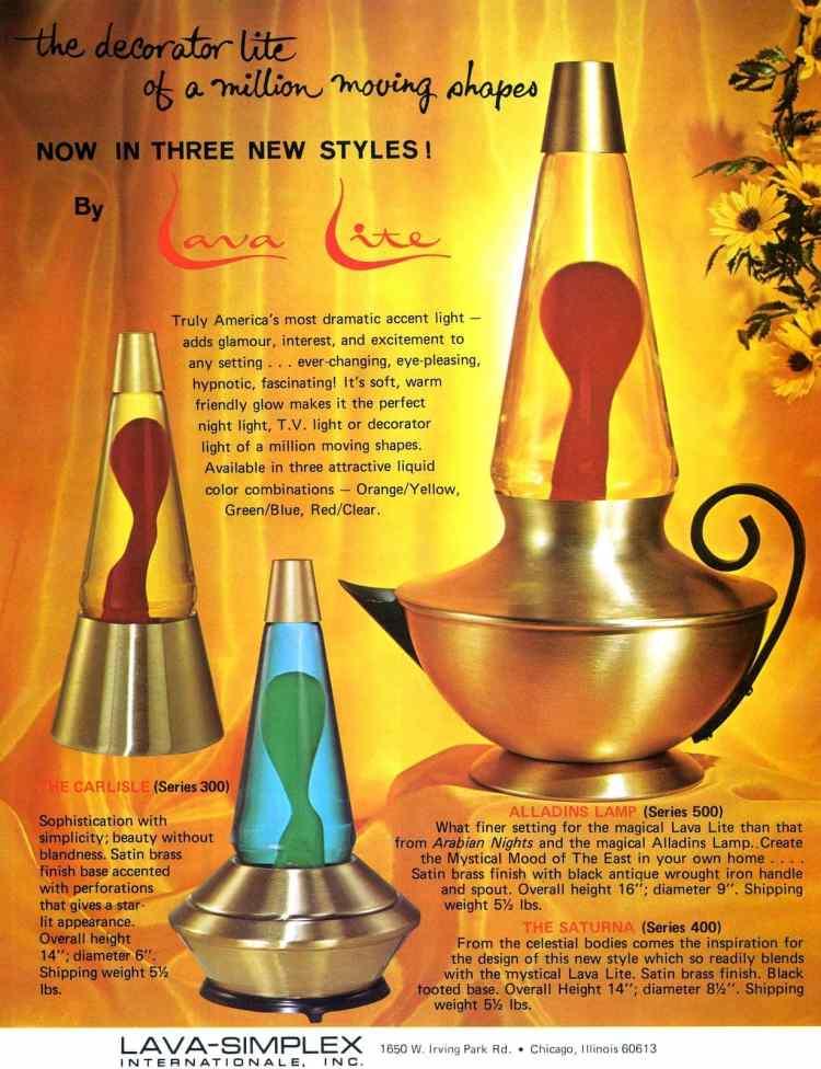 Groovy retro lava lamps