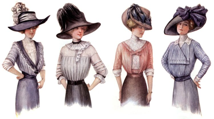 How even office girls can look like fashion models (1913)