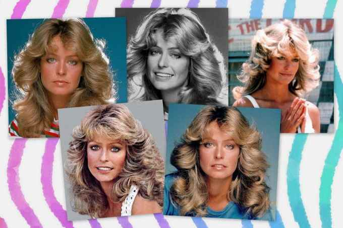 how to get farrah fawcett's famous long feathered hairstyle