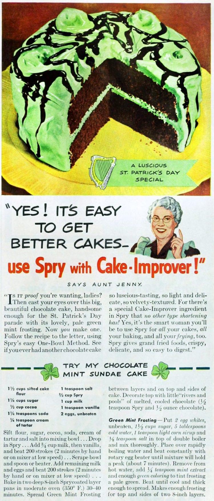 How to make an old-fashioned chocolate mint sundae cake - retro recipe
