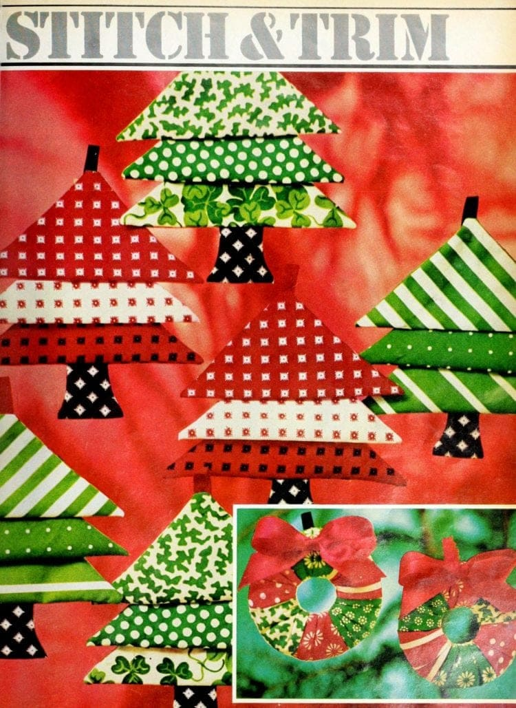 How to sew cute Christmas tree ornaments (1)