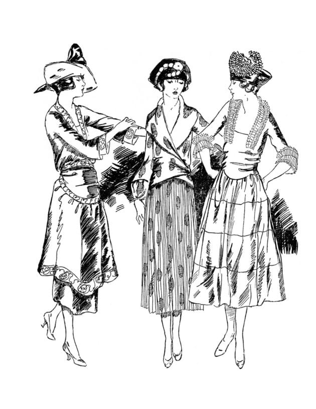 click americana s shop see cool fashions vintage coloring books 1920 Flapper Headband adult coloring books fashion