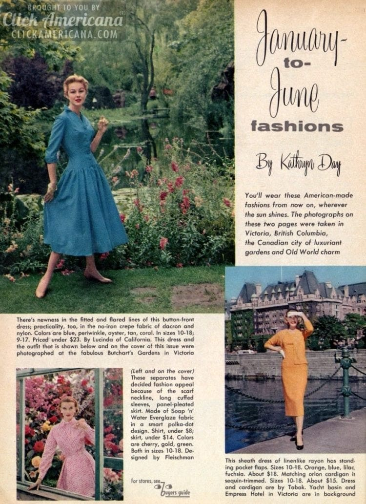 Gettin' dressy with vintage casual dresses of the '50s
