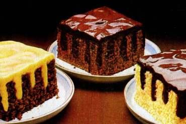 Jell-O pudding Stripe-It-Rich poke cakes (1982)