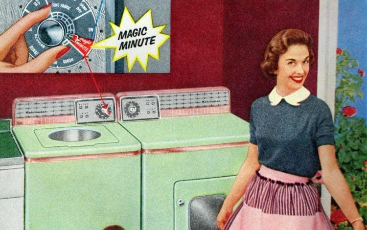 Vintage washing machine in the '50s