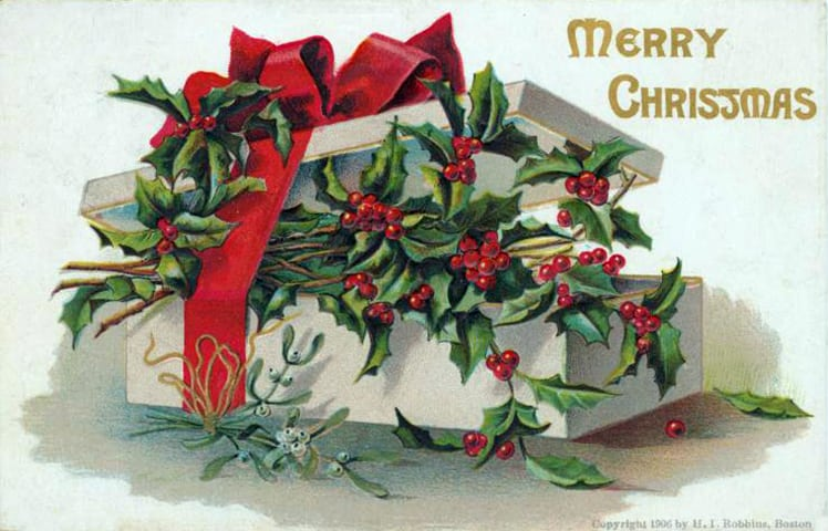 Merry Christmas - antique postcard