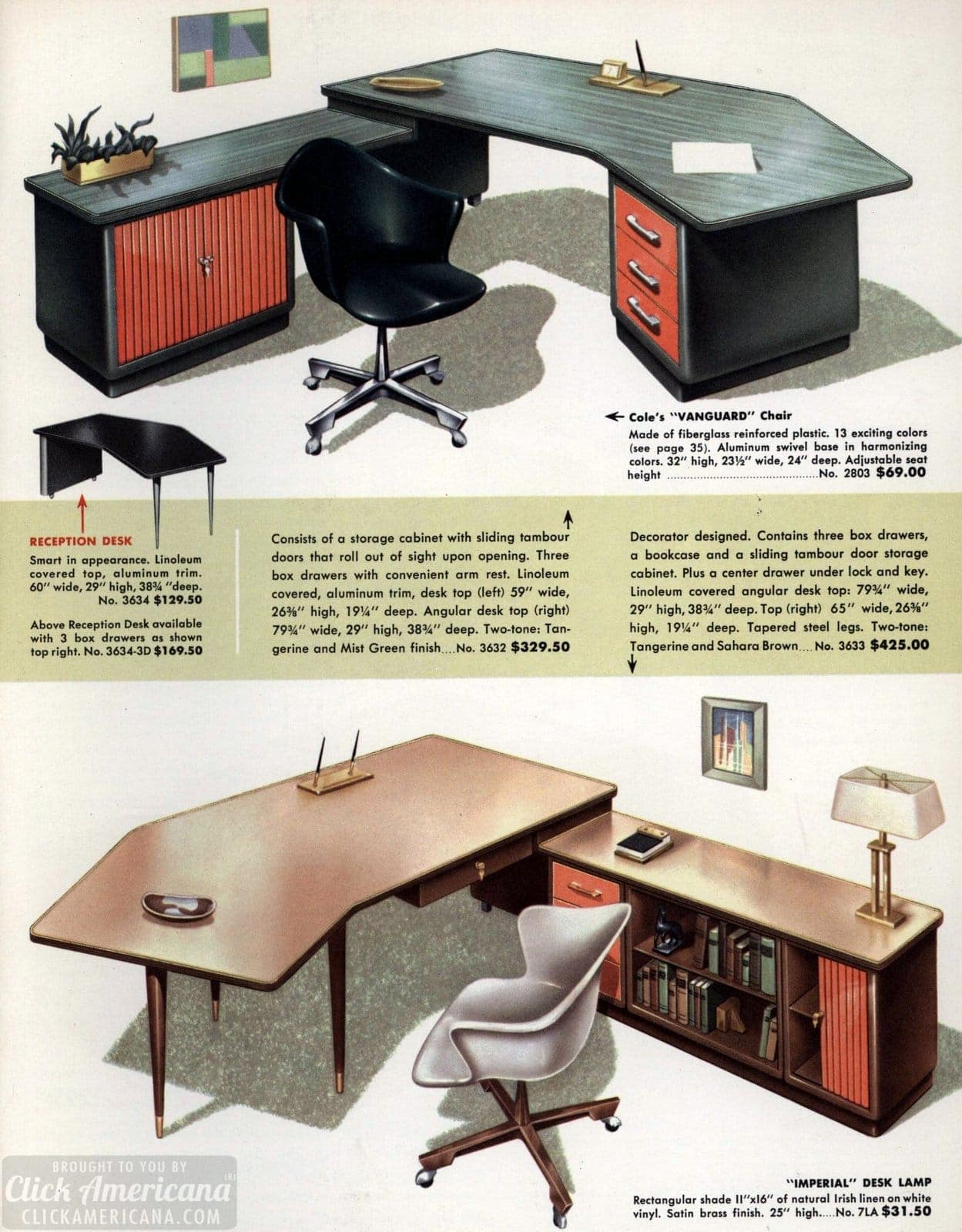 Exceptionnel Mid Century Modern Retro Office Desks From 1959   Click Americana (4)