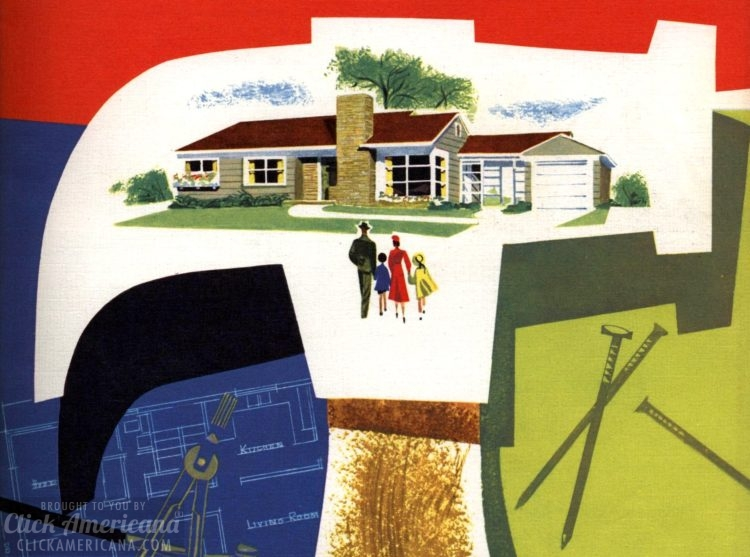 See 110 vintage '50s house plans used to build millions of mid-century homes
