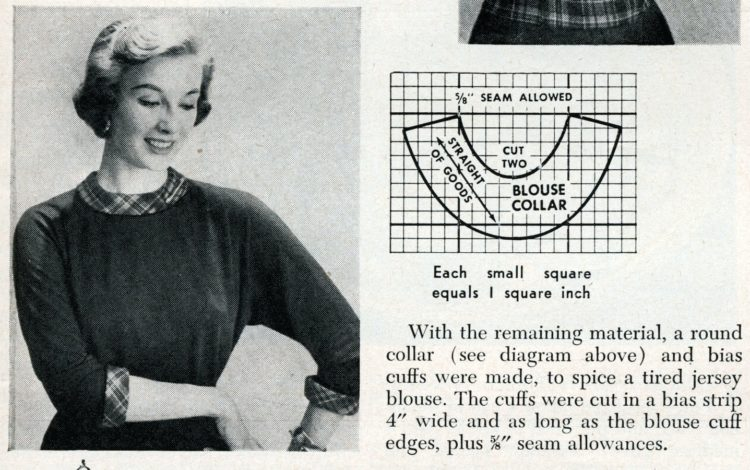 New accessories from old plaids How to use old clothing to sew something new from 1950 (6)