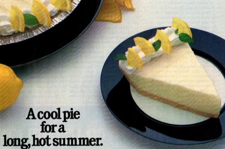 No-bake sour cream lemon pie