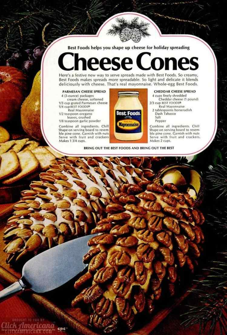 Nutty cheese pinecones - Cheese balls from December 1970 (2)