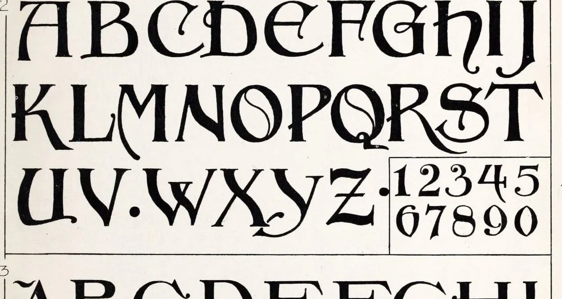 Old-fashioned fonts Alphabet typefaces are ever-changing (2)