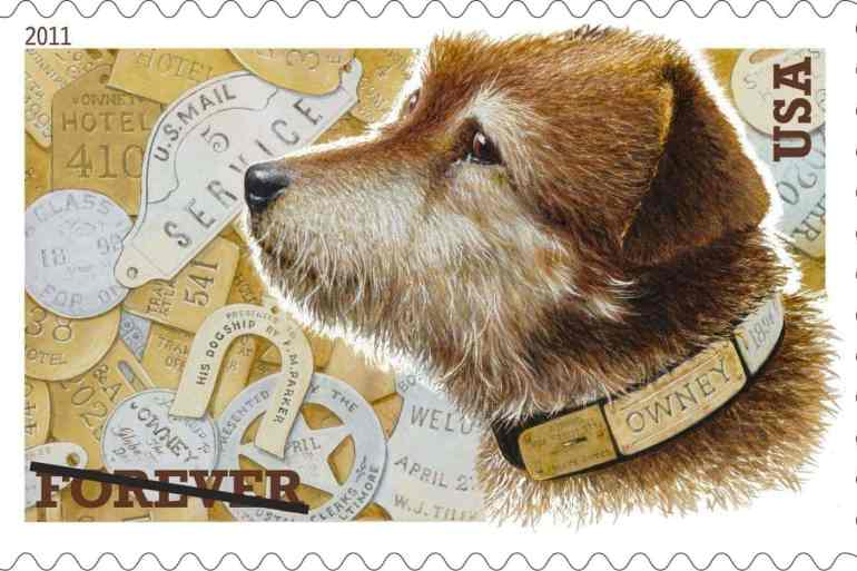 Owney the Mail Dog stamp - 2011