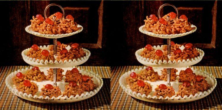 P-nutty butterscotch crunchies Classic cookie recipe (1961)