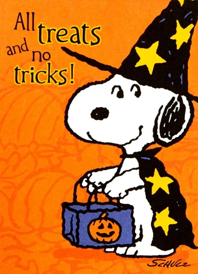 Peanuts - Snoopy seventies Halloween party invitation card