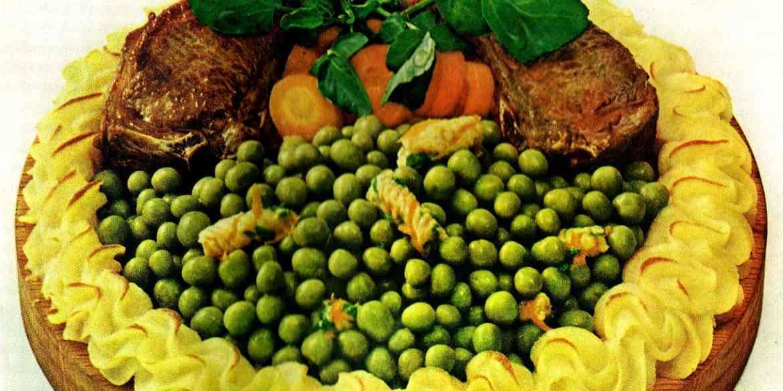 Peas confetti recipe with lamb chops
