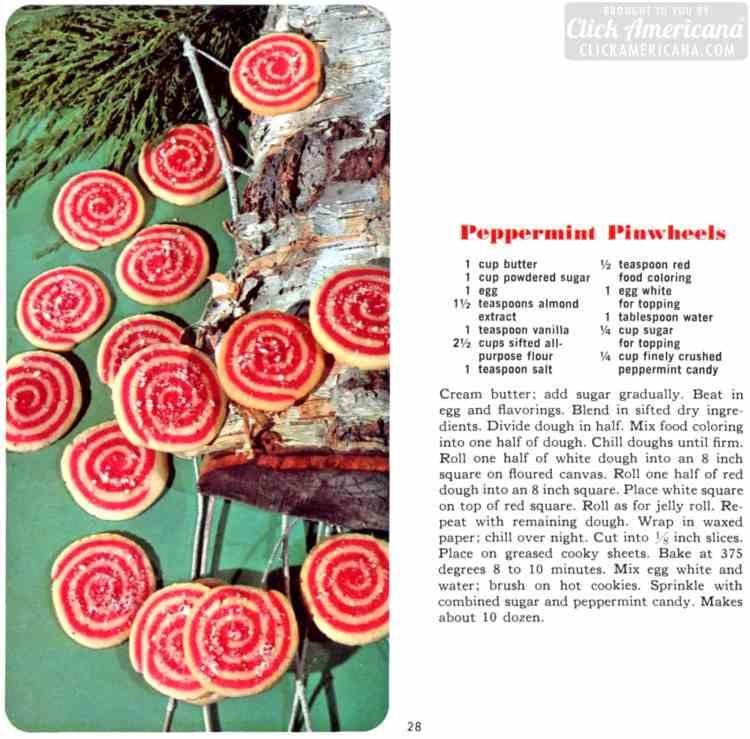 Peppermint pinwheel cookies (1966)