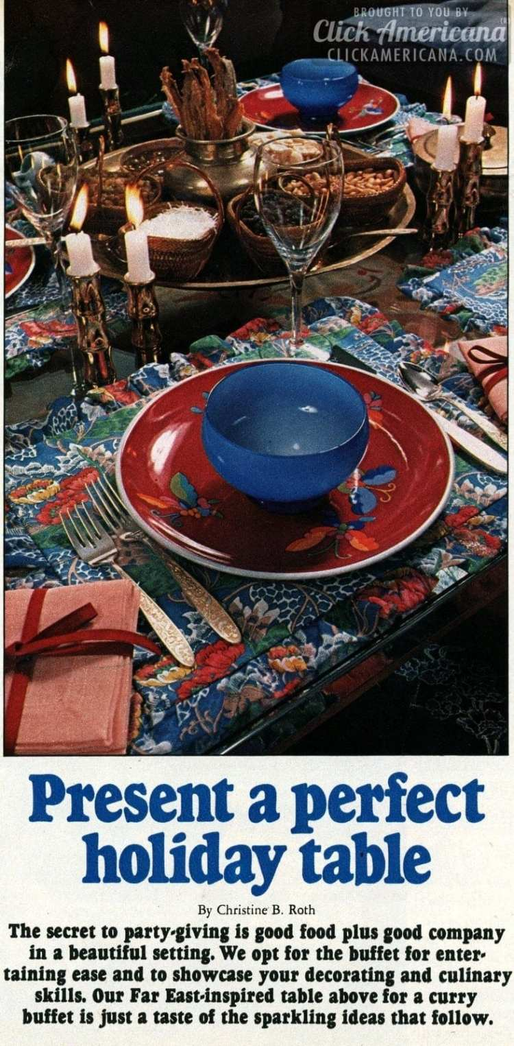 Festive decor & tablesettings: How to present a perfect holiday table (1967)