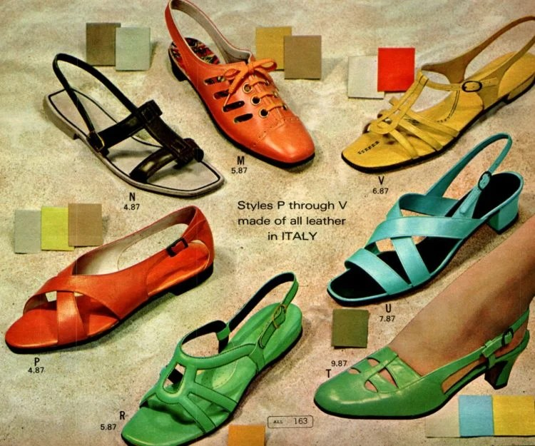 Retro '60s shoes for women from the 1968 Wards catalog (2)