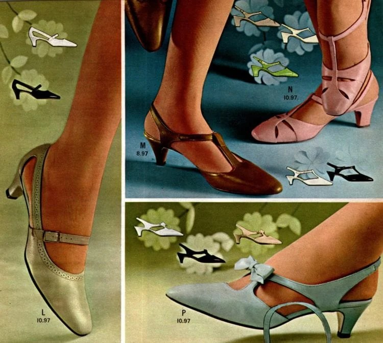 Retro '60s shoes for women from the 1968 Wards catalog (3)