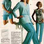 Retro textured nubby knit coordinates - tops, tunics, shells, shorts and pants