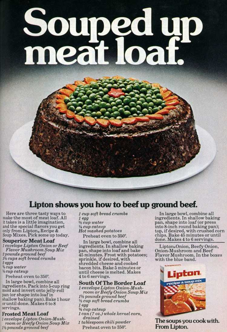 Retro recipe for Souped up meatloaf from 1977 - Molded meat loaf ring (1)