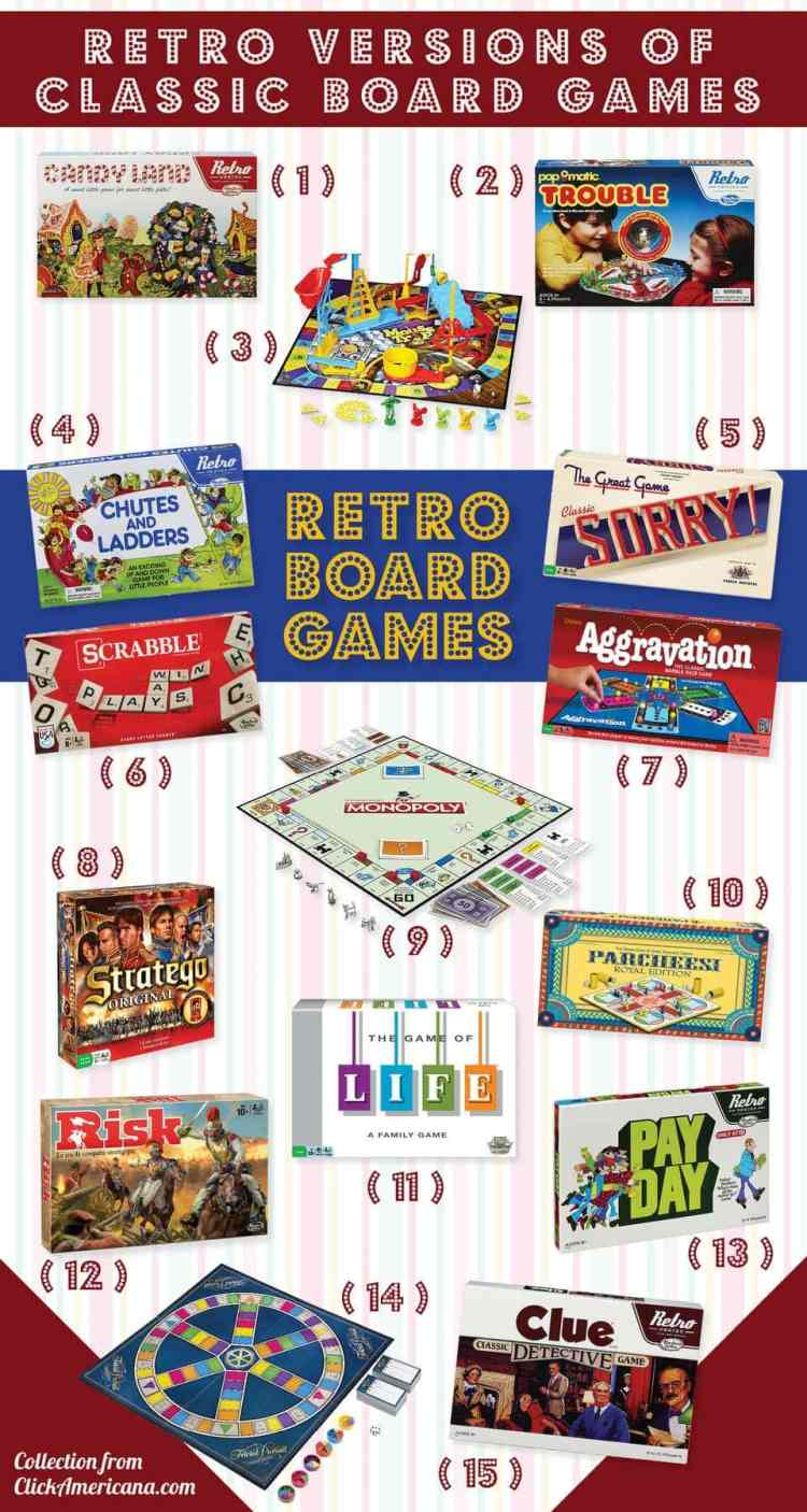 Retro versions of classic board games 12 hits of yesteryear you can get again