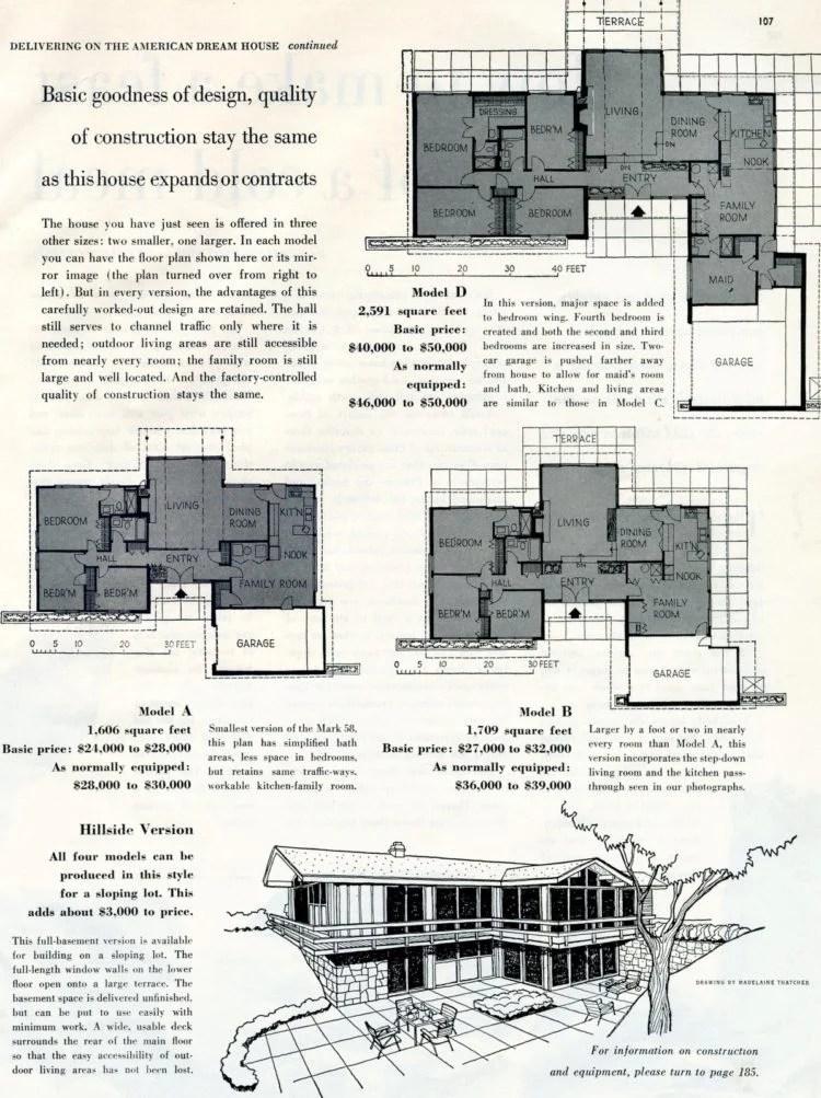 Scholz Mark 58 mid-century modern model home design plan (1)