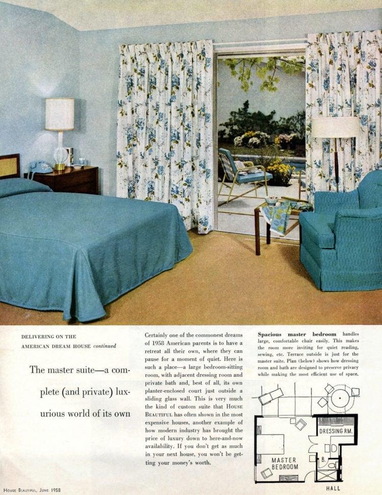 Scholz Mark 58 mid-century modern model home master bedroom (1)