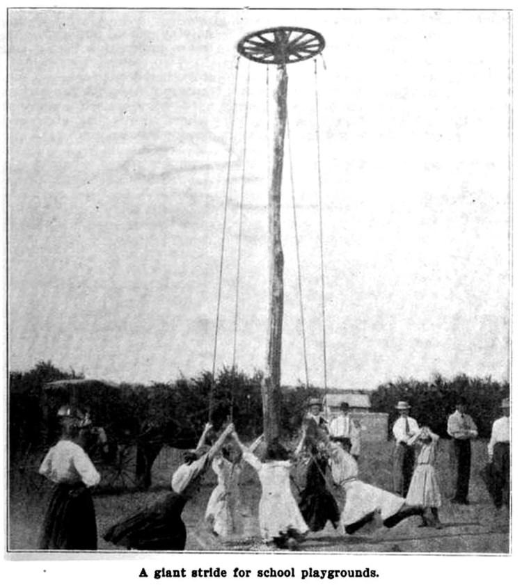School playground in Kansas 1909