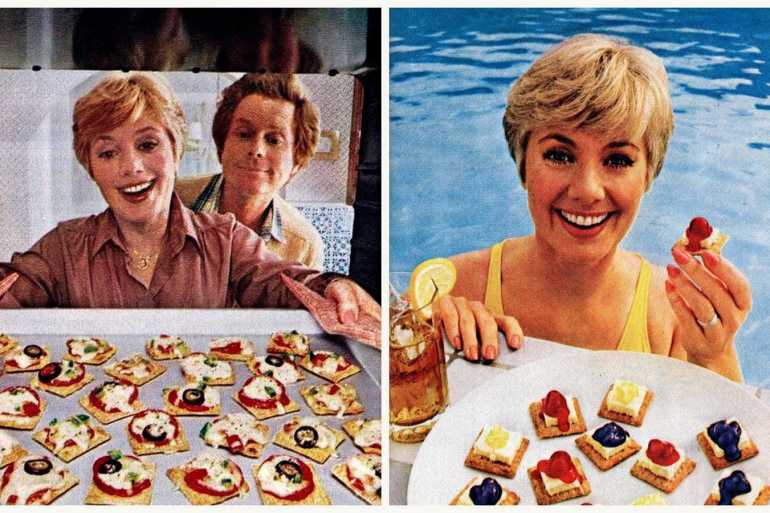 Shirley Jones Triscuit cheesecake snacks & mini pizzas