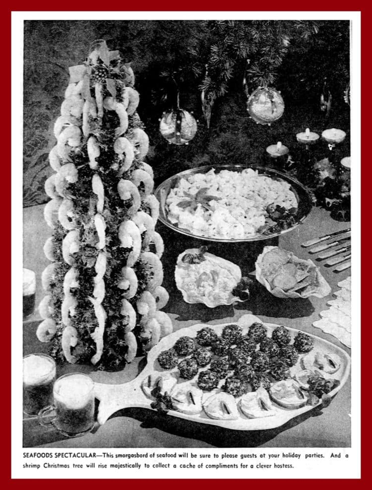 Shrimp Christmas tree from 1964