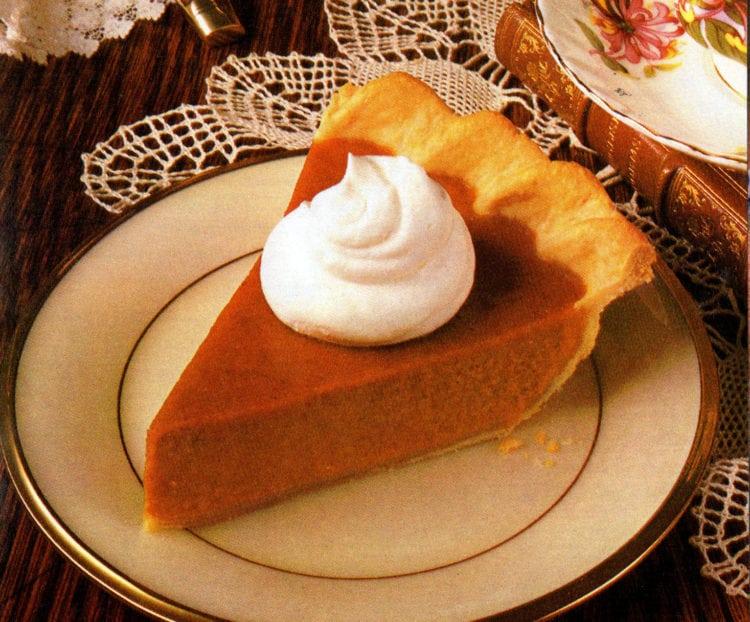 Slice of Libby's pumpkin pie - classic recipe
