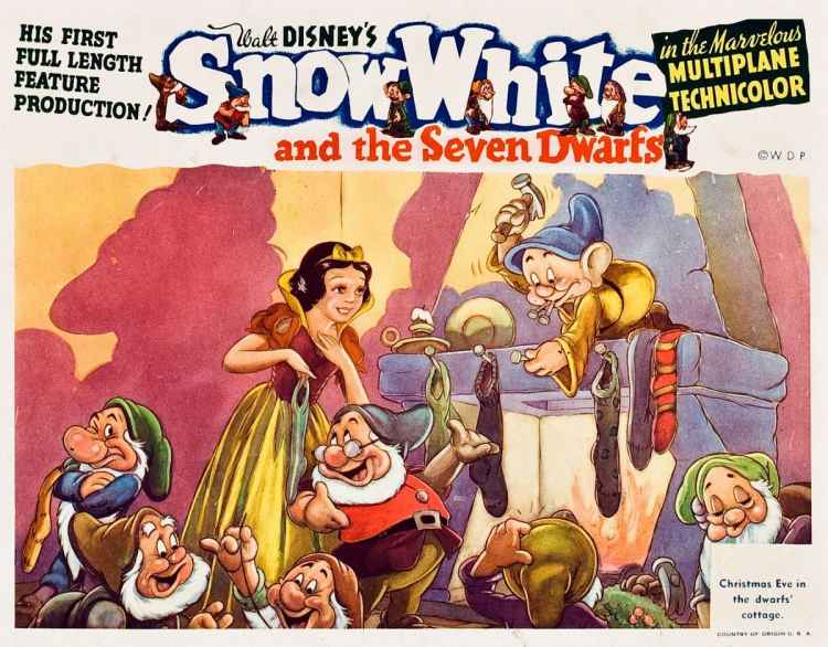 Snow White and the Seven Dwarfs lobby poster from 1938