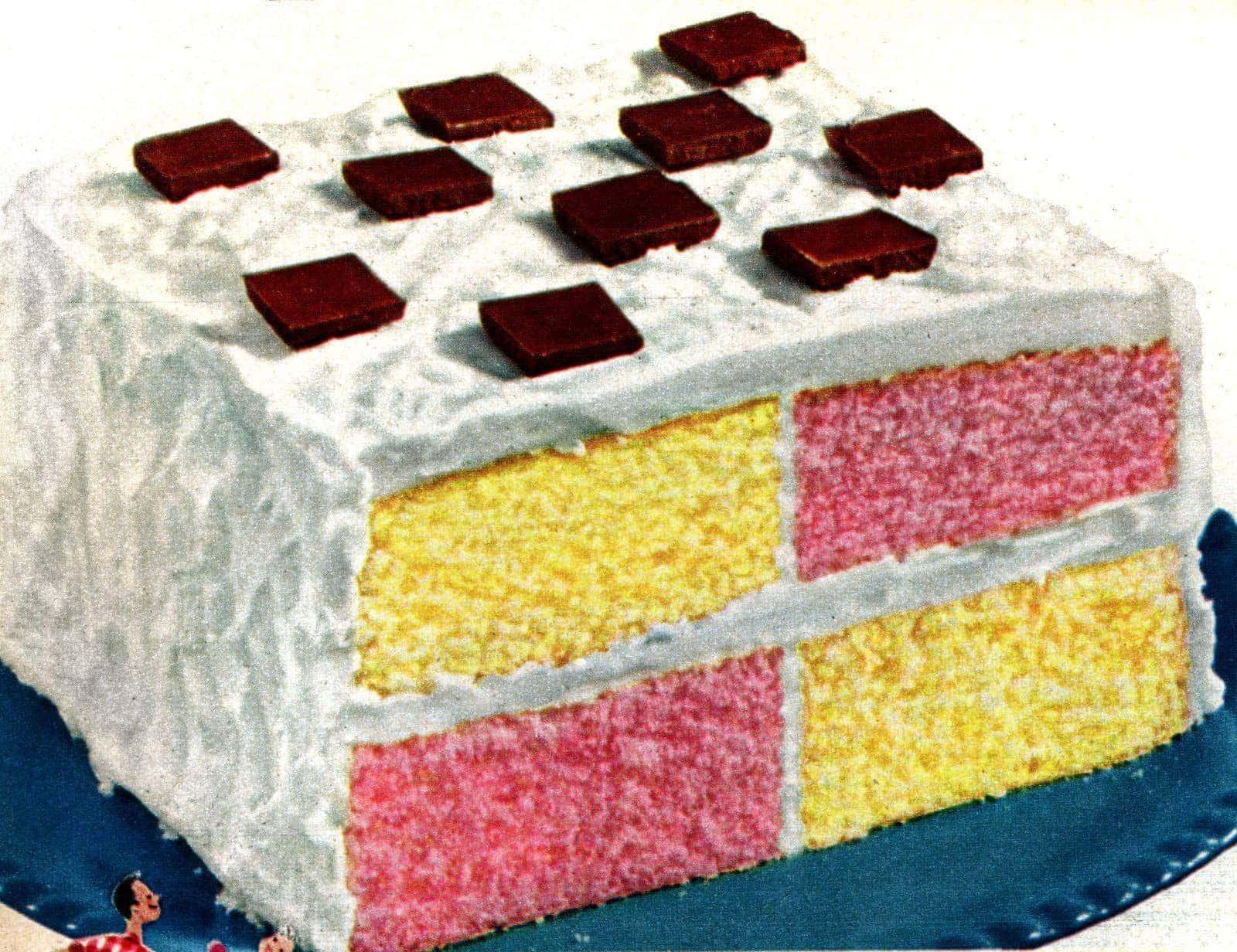 Square dance party cake (1950) - Click Americana