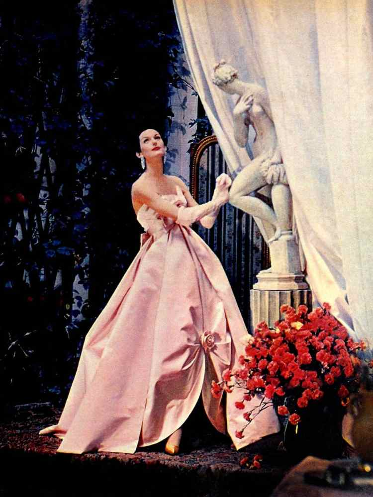 Sweet pink evening gown from the sixties