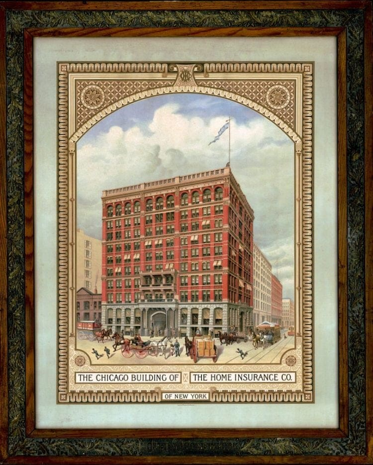 The Chicago Building of The Home Insurance Co. of New York 1880 - US life expectancy
