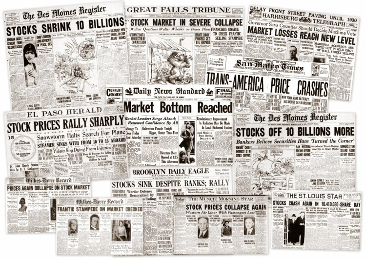 The Great Depression Newspaper Headlines From The Stock Market - The-great-depression-1929