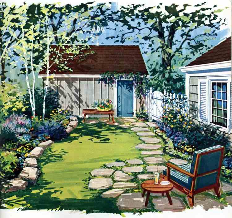 Informal cottage garden - Tiny private gardens and sweet retreats Clever ideas for small outdoor spaces from the 1960s