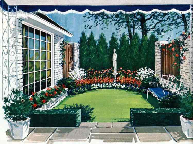 Formal garden for city or suburb - Tiny private gardens and sweet retreats from the 1960s