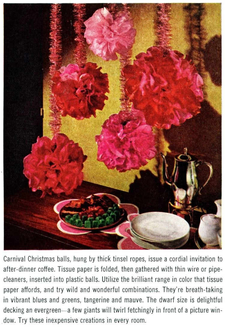 Tissue paper forCarnival Christmas balls from 1963