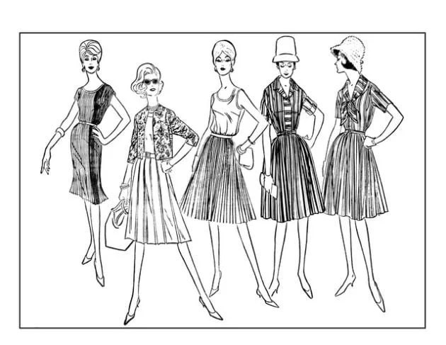 click americana s shop see cool fashions vintage coloring books 1920s Clothing adult