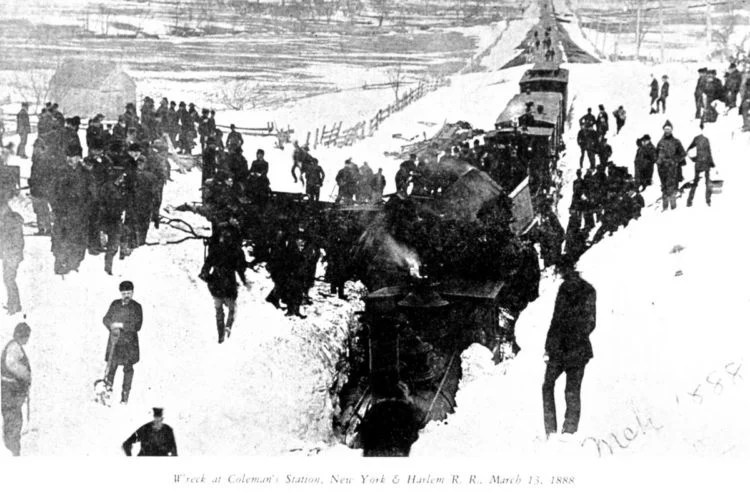 Train wreck at Coleman's Station NYC - March 1888
